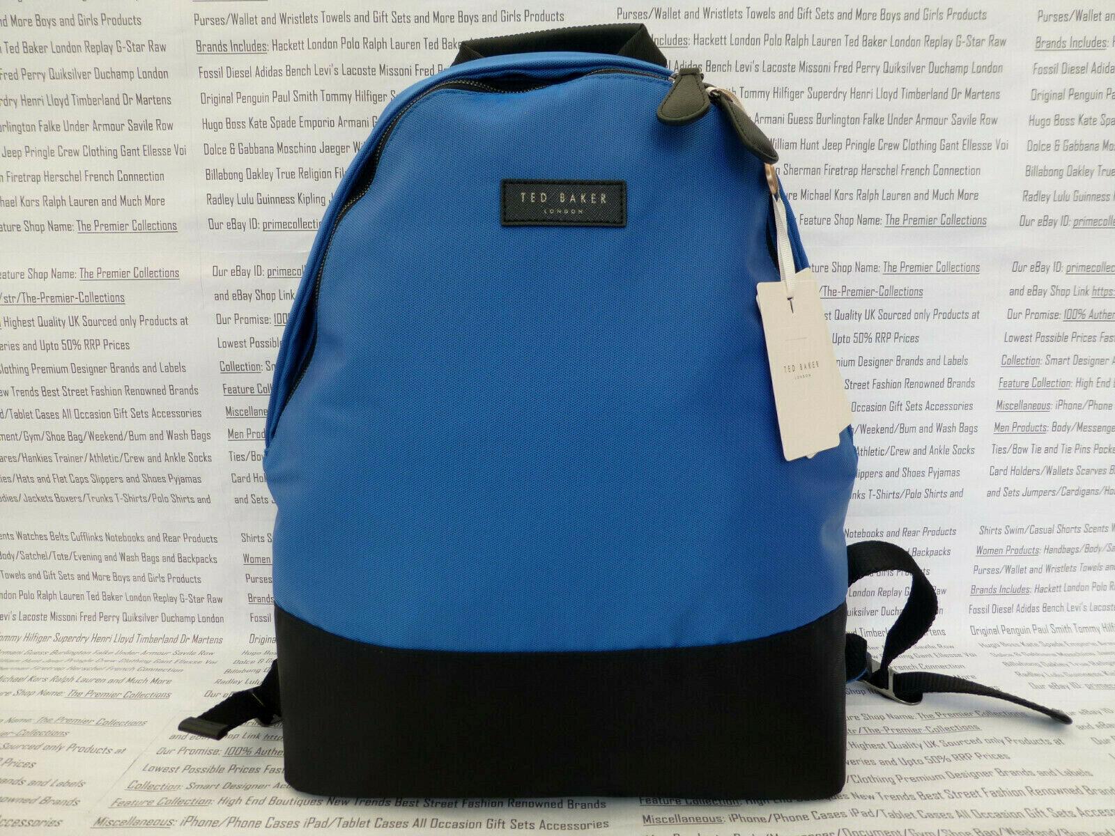 Ted Baker Backpack Mens Filer Black Rucksack Nylon Canvas Shoulder Bag R