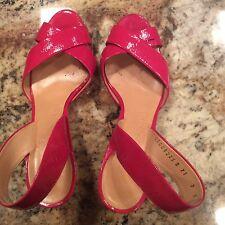 Salvatore Ferragamo Pink Patent Leather Slingback High Heel Sandals SZ 7