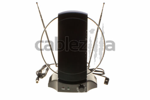 50 Miles 36db Amplified Booster Antenna Gain Control HDTV VHF UHF FM Indoor