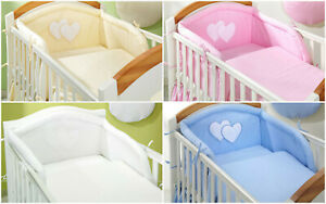 4-pcs-BABY-BEDDING-SET-Bumper-Pilowcase-Duvet-Cover-to-fit-COT-or-COT-BED