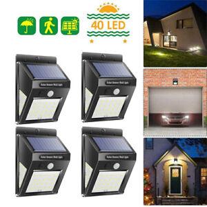 4pcs-30-40-100led-Solar-Bewegungsmelder-Wand-Lampe-Wasserdicht-Garten-Pfad-Licht