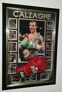 Joe Calzaghe Boxing SIGNED Boxing Glove Autograph Display *** AFTAL DEALER