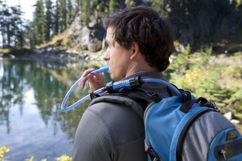 Water Filter SAWYER PRODUCTS Mini Filtration System Blue Camping Backpacking