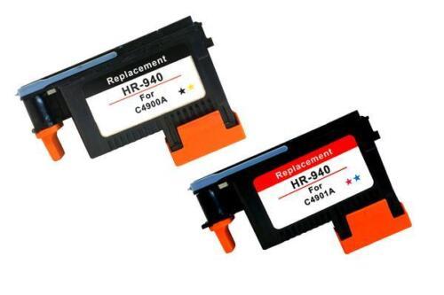 Reman 940 Printhead Black//Yellow C4900A Cyan//Magenta C4901A For HP 8000a 8500a