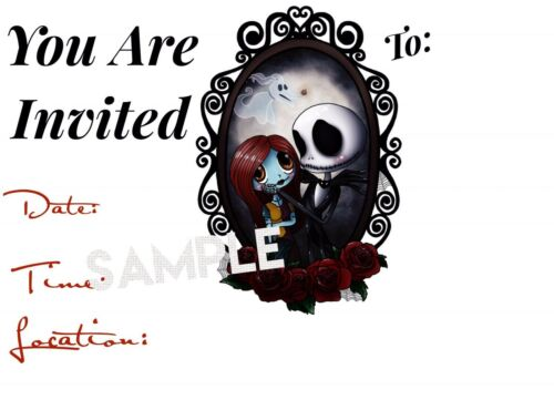birthday Nightmare Before Christmas Invitations w// matching envelopes 12pack