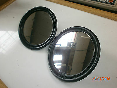 """Land Rover Series 1-3 Off-Road Kit Car 5"""" Round Head Mirrors NEW 605664, RTC1135"""