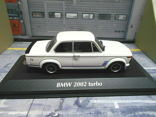 BMW 2002 E20 E10 Turbo 1973 weiss white Maxichamps Minichamps PMA 1:43