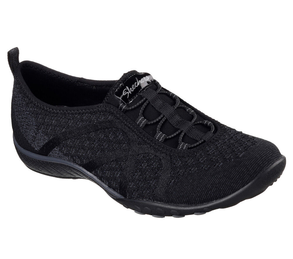 NUOVO Skechers FOAM da donna Sneakers Slipper MEMORY FOAM Skechers Breathe-Easy fortuneknit Nero 984e9f