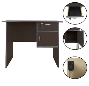 Homedeal-039-s-Computer-Office-Table-Brown