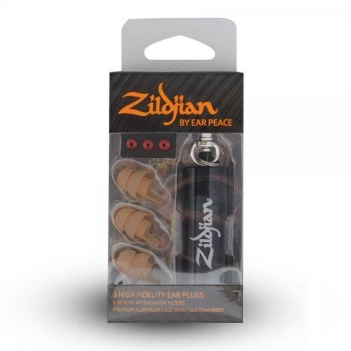Zildjian ZPLUGST Earplugs By Ear Peace Includes Case, Tan
