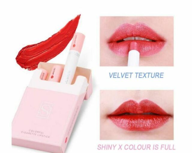 Set of Colored Matte Lipsticks For Cigarettes, Waterproof Long Sexy Red Lipstick