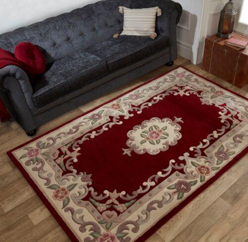 Vente chinois aubusson tapis en laine rouge dans différentes tailles Runner demi lune et cercle