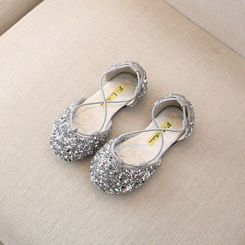 Summer Toddler Infant Kids Baby Girls Cute Bling Sequin Princess Sandals Shoes