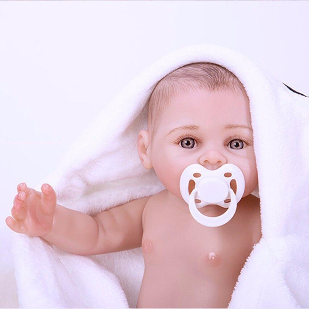 17  Muñeca Bebé Reborn De Silicona Completo niña Real realista del niño bebe hecho a mano de regalo