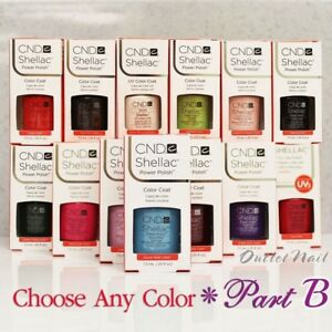 CND-SHELLAC-UV-Gel-Nail-Polish-Base-Top-Coat-7-3ml-0-25oz-Pick-ANY-Color-PART-B