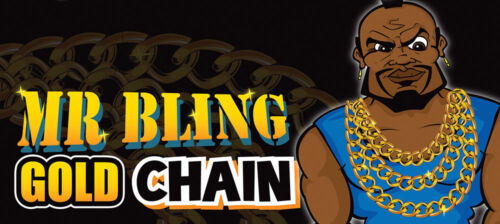 New T Gold Bling MR T BA Baracus Fancy Dress Mohawk beard ring Chain 80/'s Adult