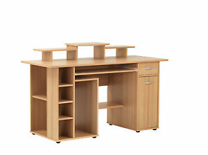 Alphason-San-Diego-Beech-Effect-Utility-Desk-Workstation-Home-Small-Office