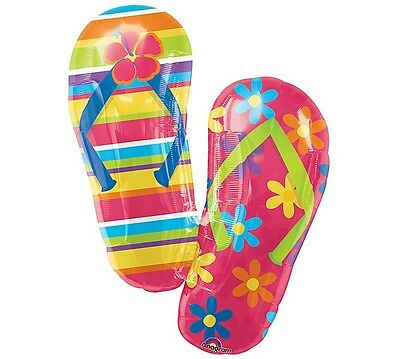 Summer FLIP FLOPS Sandals Sun Sand Luau Tropical Beach Birthday Party Balloon