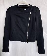 Bar Iii Womens Jacket Black Size Xs Nwt Moto Biker Croppedjacquard Quilted Coat