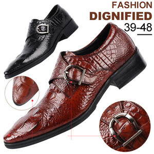 Formal-Shoes-Men-Leather-Dress-Oxfords-Business-British-Crocodile-Casual-Shoes