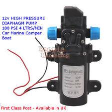 DC 12V Diaphragm High Pressure Pump - Automatic Switch 5L/min 60W Avail in UK