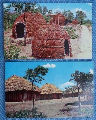 Kiowa Camp Indian City U.S.A. Anadarko OK Vintage Postcard