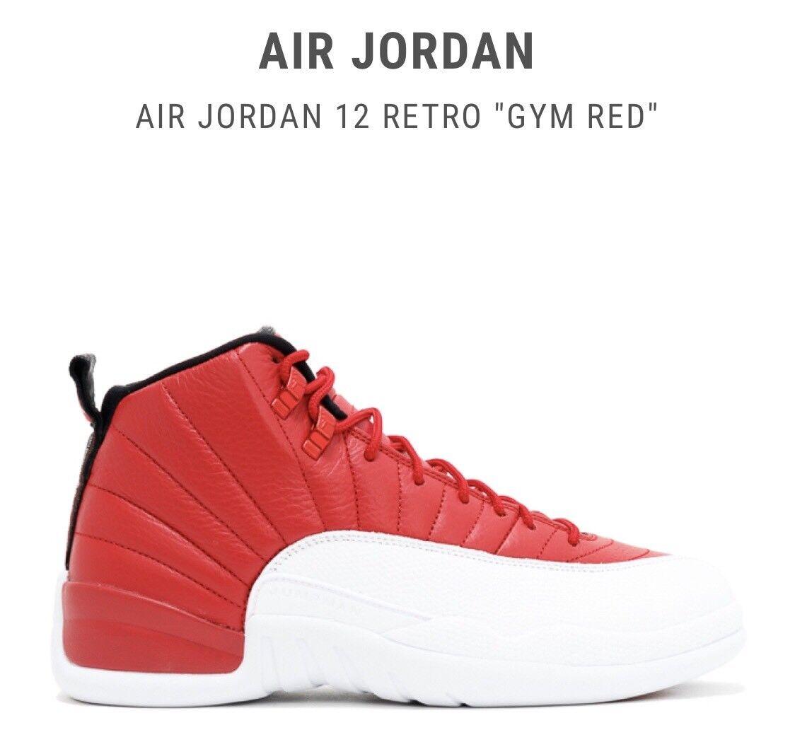 Nike Air Jordan Retro 12 Gym Red Men's Size 14 Brand New In Box