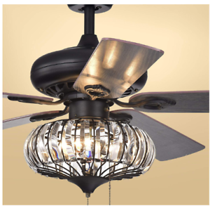 Details About Warehouse Of Tiffany 52 Crystal Chandeliers Ceiling Fans Cfl 8306 Pendant Lamps
