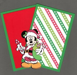 Disney-Christmas-Mickey-Mouse-Die-Cut-with-2-Photo-Mats-4-034-x-6-034