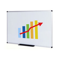 Viz Pro Large Dry Erase Board Whiteboard Non Magnetic Wall Mounted Board Office