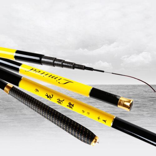 2.4M-7.2M Carbon Fiber Ultralight Travel Telescopic Fishing Rod Spinning Pole