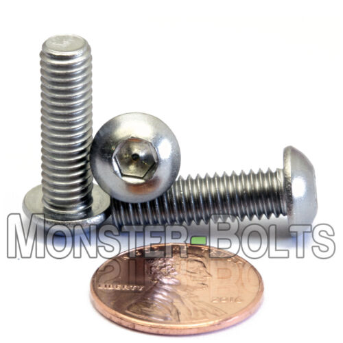 A2 Stainless Steel BUTTON HEAD Screws  M6-1.0 x 20 Qty 10 6mm x 1.00 x 20mm