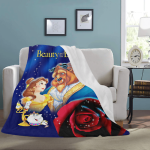 Details about Best selling Custom Beauty and the Beast Soft Throw Fleece  Sofa Blanket