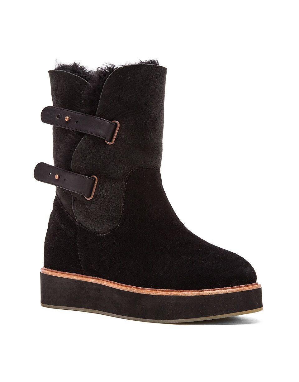 Australia Luxe colectiva Para Para Para Mujer Negro bushmill W Shearling botas Zapatos Nuevos  cómodo