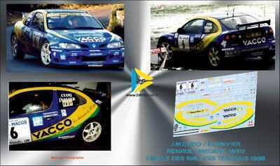 Décal 1//43 PEUGEOT 306 MAXI VAISON FINALE DES RALLYES TOURNUS 1998