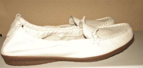 Hush Slip Off Cruise Ceil Flats White Puppies Travel Scarpe Loafer 9 Mt on 6qr6t8