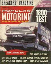 POPULAR MOTORING MAGAZINE MAR 1965 1800 TEST FUEL PUMP DISC BRAKE COLUMN CHANGE