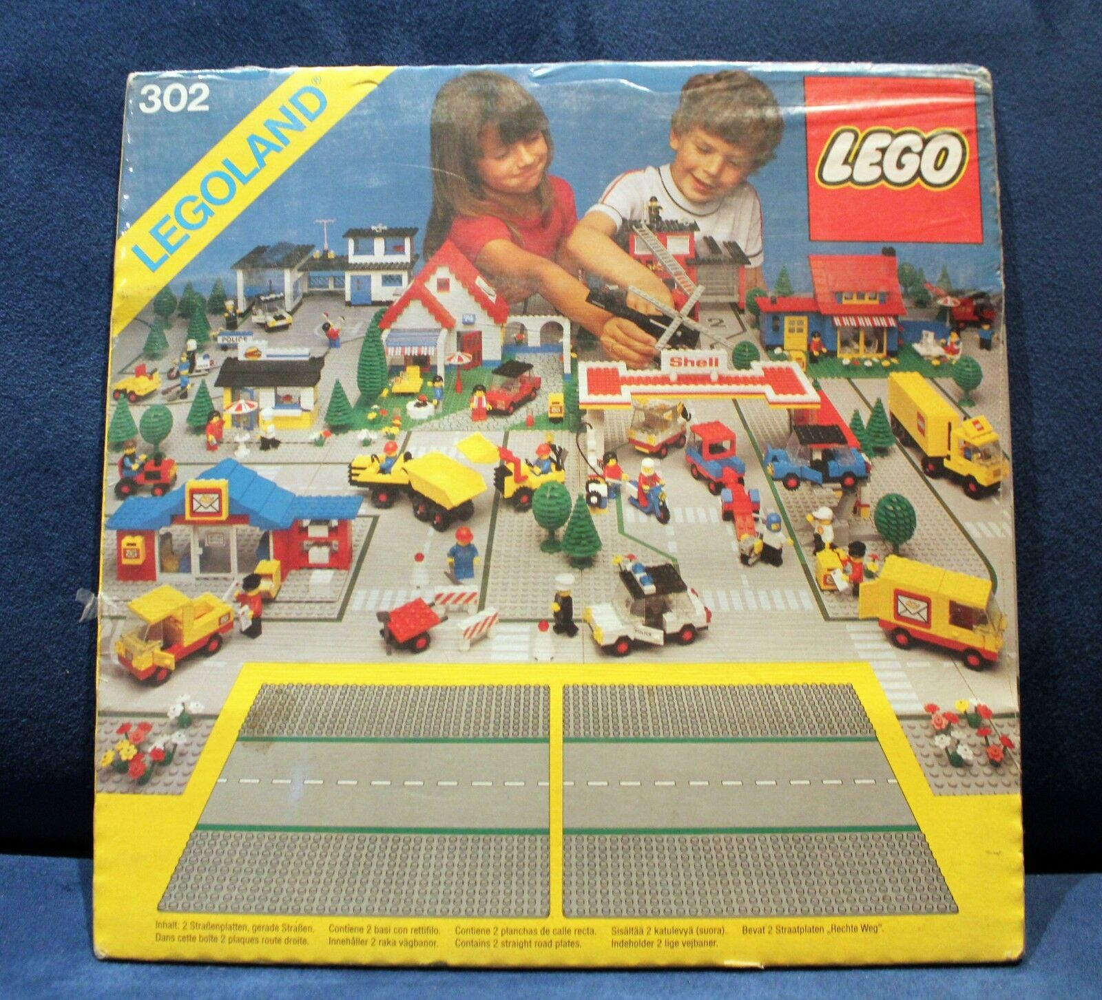 LEGO CITTA' CITY LEGOLAND 302 302 302 MISB VINTAGE 1983 2 BASI STRADE PLATES STREETS 1ea732