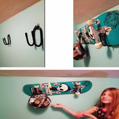 4x Skateboard Storage Display Rack Organizer Hanger,Portable Stand or Wall mount