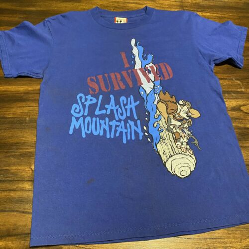 Vintage 90s I Survived Splash Mountain Disney T Sh