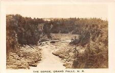 C32/ Grand Falls Canada New Brunswick Real Photo RPPC Postcard c40s The Gorge