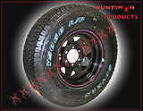 16X8-BLACK-4WD-STEEL-WHEEL-FITTED-WITH-265-75R16L-T-10PLY-LIGHT-TRUCK-TYRE