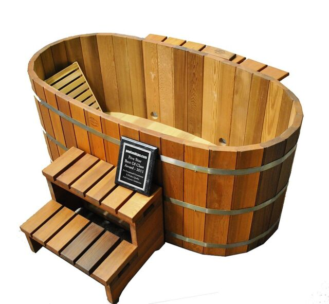 Ofuro Japanese soaking hot tub - 2 person wooden tub