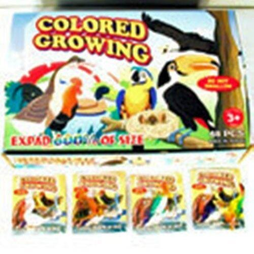 12 GROWING BIRDS flying grow bird toy science bulk lot