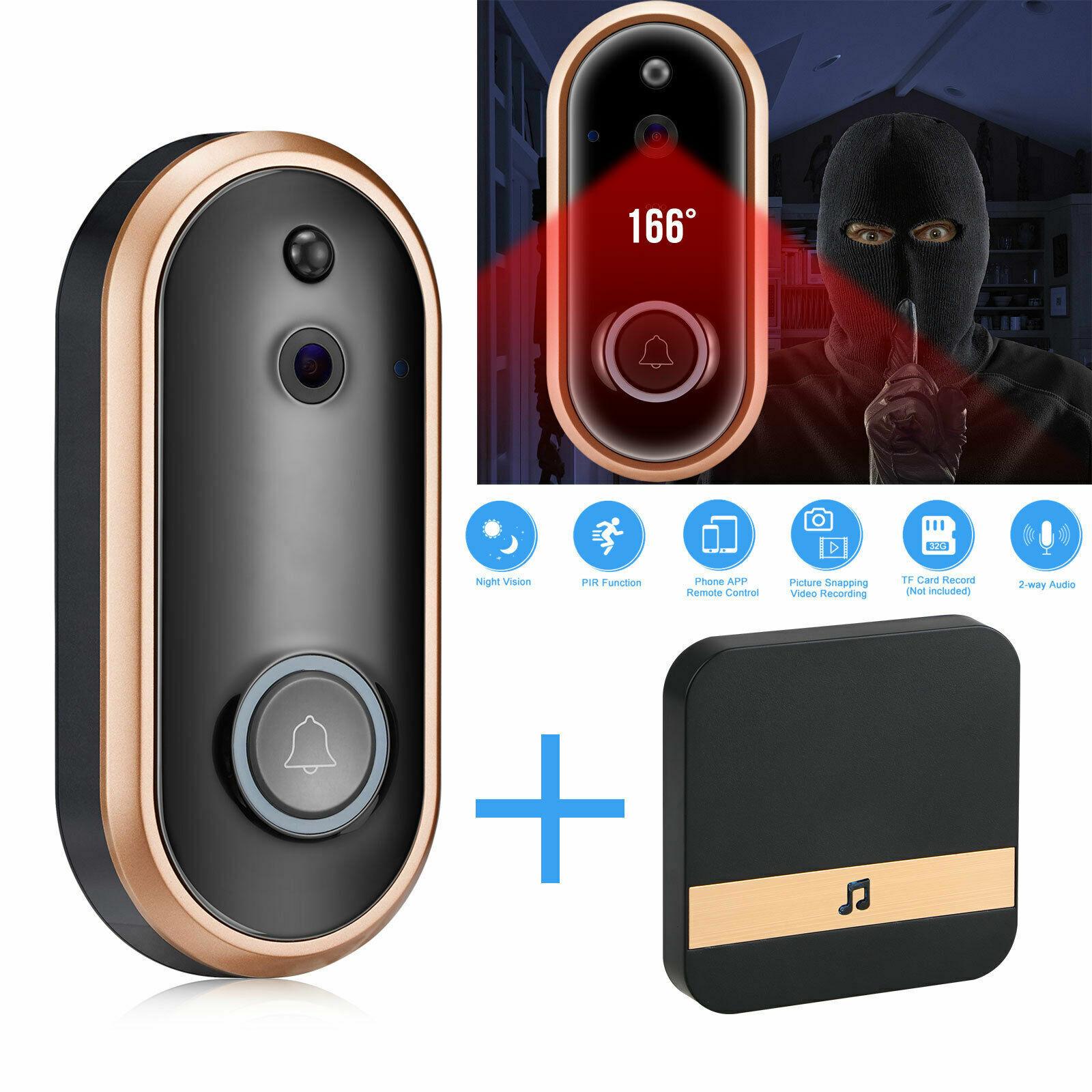 720 1080p Smart WiFi Video Doorbell Security Intercom Doorphone Lower Power