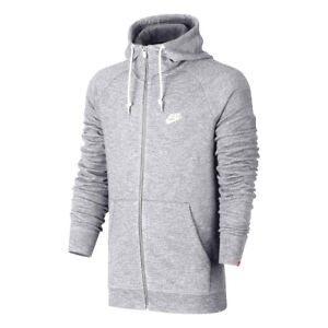 05ebea9d7580 Nike NSW Legacy Full Zip Hoody New Light Grey White Sportswear ...