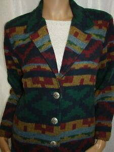 Willow-Ridge-Size-4P-Aztec-Print-Blanket-Western-Jacket-Coat-Bust-34-36-034