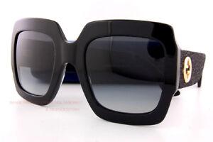 c1a350b1d8a Brand New GUCCI Sunglasses GG 0102 S 001 Black Grey Gradient For ...