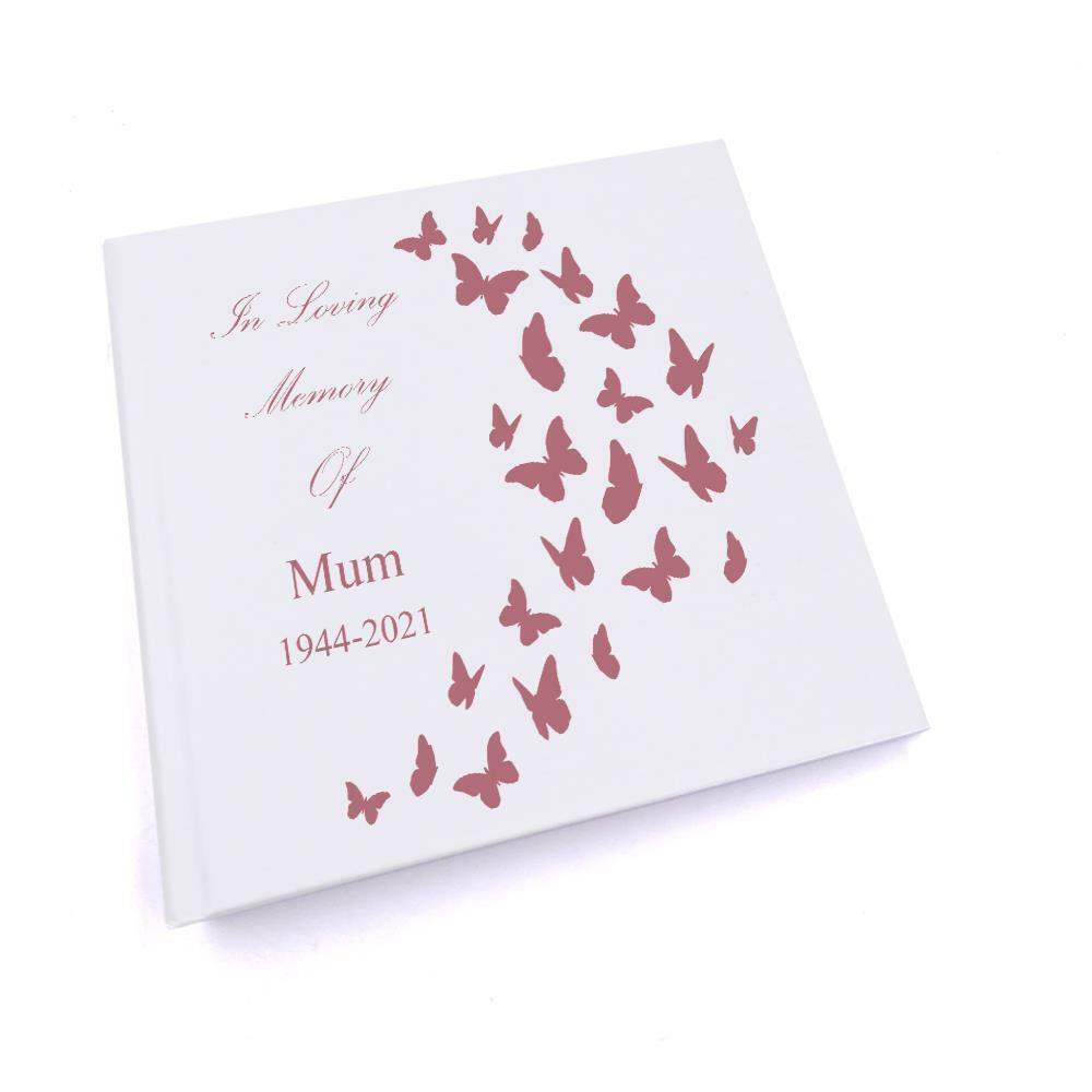 Personalised Mum In Loving Memory Butterflies Design Photo Album UV-369