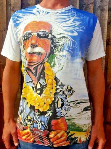Albert Einstein t-shirt Mens Womens Unique 100/% Cotton /'Mirror/' White M L XL